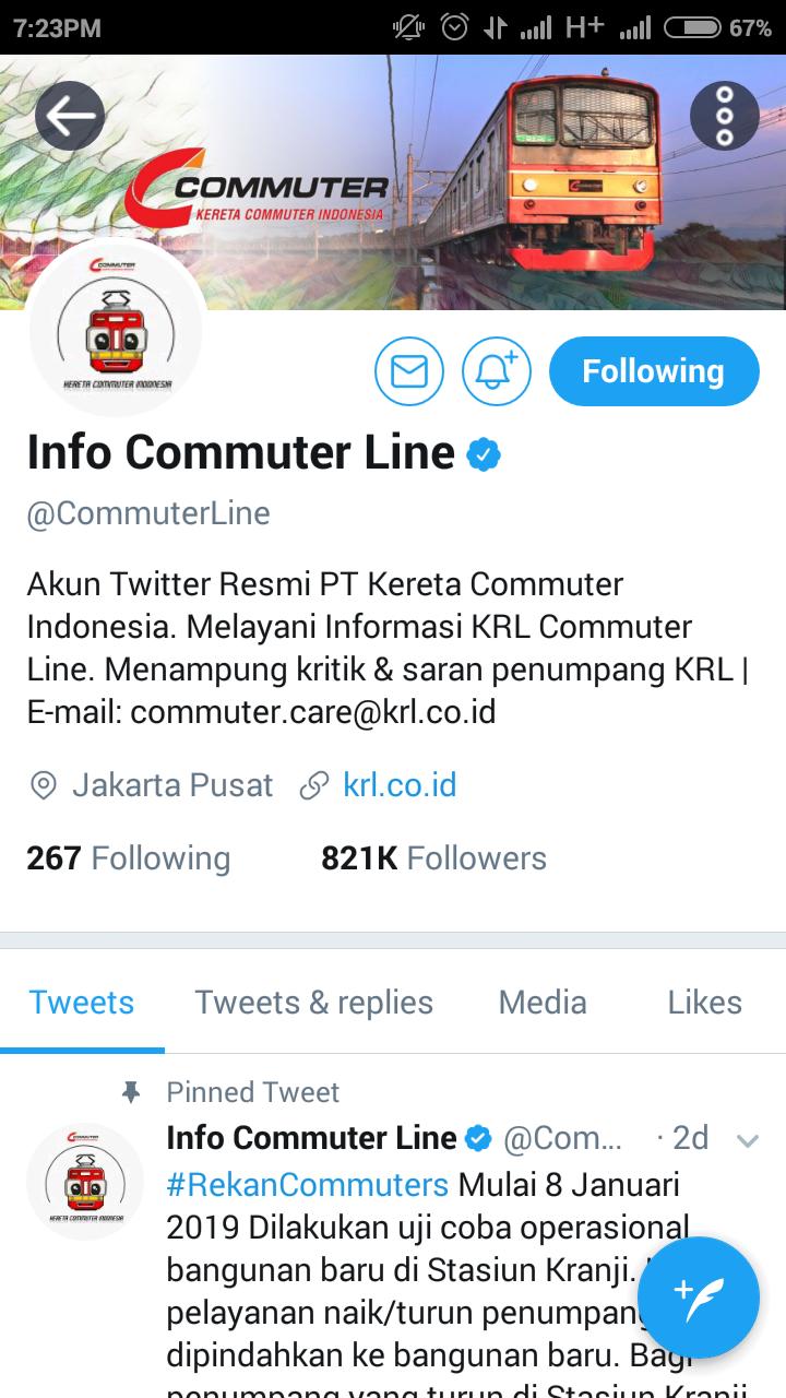 Review KRL Access Apps commuter line twitter