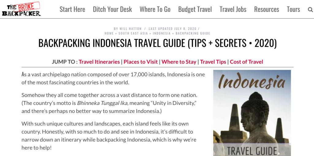 www.thebrokebackpacker.com/indonesia Backpacker Tips in Indonesia