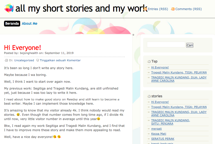 my fiction story