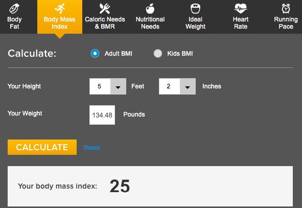 How Fat Am I body mass index