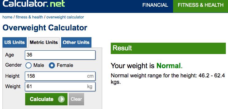 How Fat Am I overweight calculator