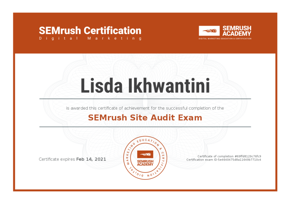 site audit semrush Lisda