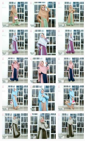 gamis polos Fauz Hijab