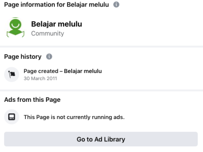 page transparancy facebook